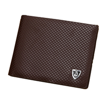 Men Wallets PU Leather Photo Card Holder Male Clutch Money Bag Coin Pu