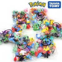 Figuras de acción de Pokémon de 2,5-3cm, 144 estilos diferentes, 24 unidades/bolsa, figuras de juguete coleccionables