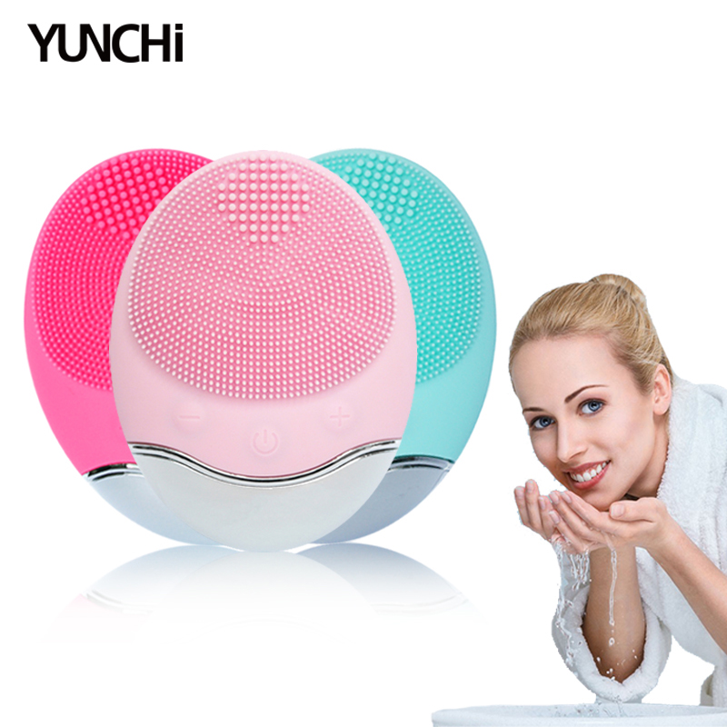 Electric Facial Cleansing Brush Bamboo Charcoal Fibre Bristles Skin Exfoliating Face Massage 5 Levels Speed IPX7 Waterproof
