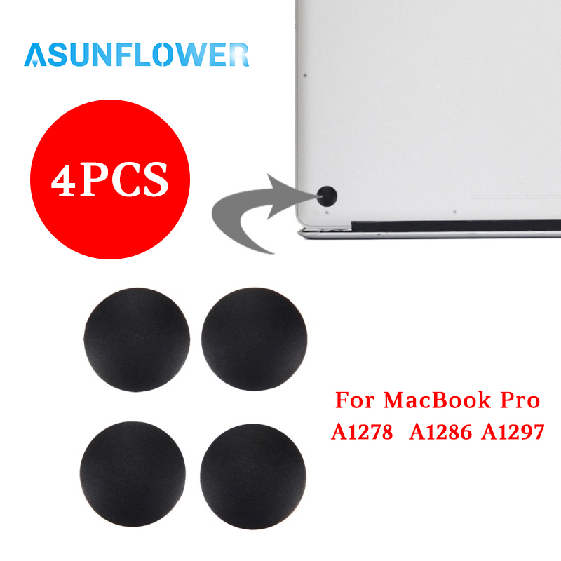 4Pcs/set for Macbook Pro A1278 A1286 A1297 Laptop Rubber Bottom Case Cover Feet Kit Back Case Mat Feet BaseLaptop Accessories