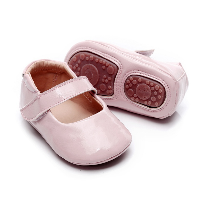 Newborn Anti-Slip Toddler Infant Soft Soled Crib Shoes 0-18M Hot Baby Girls PU Shoes First Walkers Walking Flats Pricess Shoes