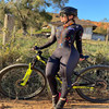 Xama ciclismo manga longa trisuit skinsuit feminino manga curta bicicleta wear macacão conjunto de roupas roadbike ciclo 17