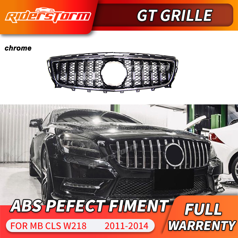 GT <font><b>grille</b></font> For <font><b>W218</b></font> GT <font><b>grille</b></font> <font><b>w218</b></font> GTR <font><b>grille</b></font> for Mercedes CLS <font><b>w218</b></font> <font><b>grille</b></font> 2011-2014 Replacement mesh front bumper image