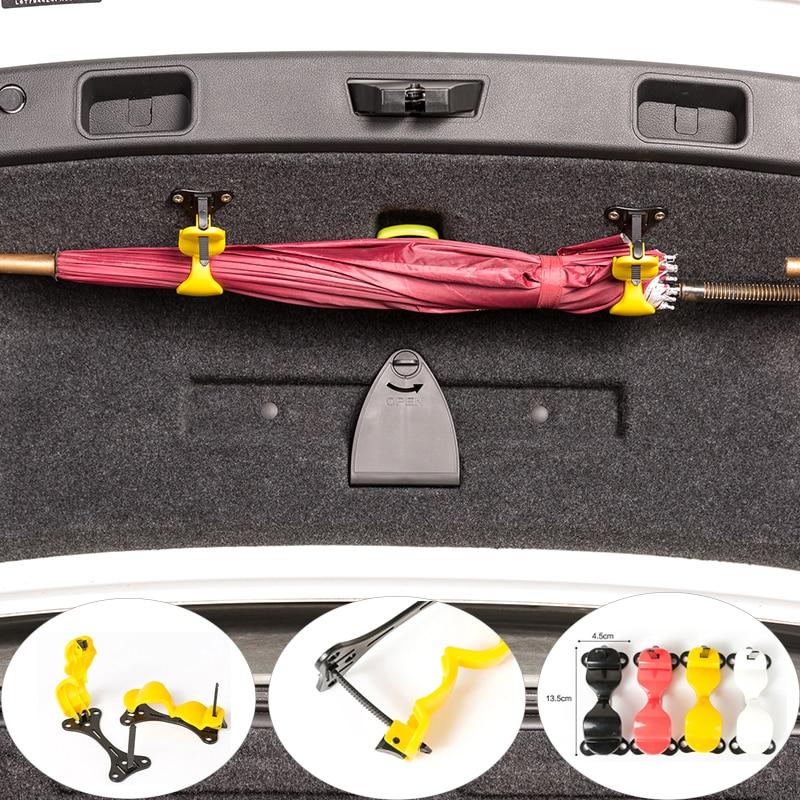 Car Styling Umbrella Holder Automobile Trunk Organizer Tronco della Parte Posteriore Dell'automobile Staffa di Montaggio del Tovagliolo Gancio per Ombrello Appeso Gancio