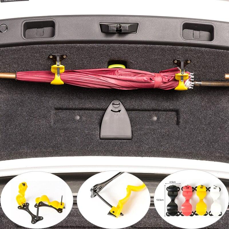 Car Styling stojak na parasole samochodów Trunk organizator bagażnika z tyłu samochodu uchwyt montażowy wieszak na ręcznik na parasol hak do zawieszania