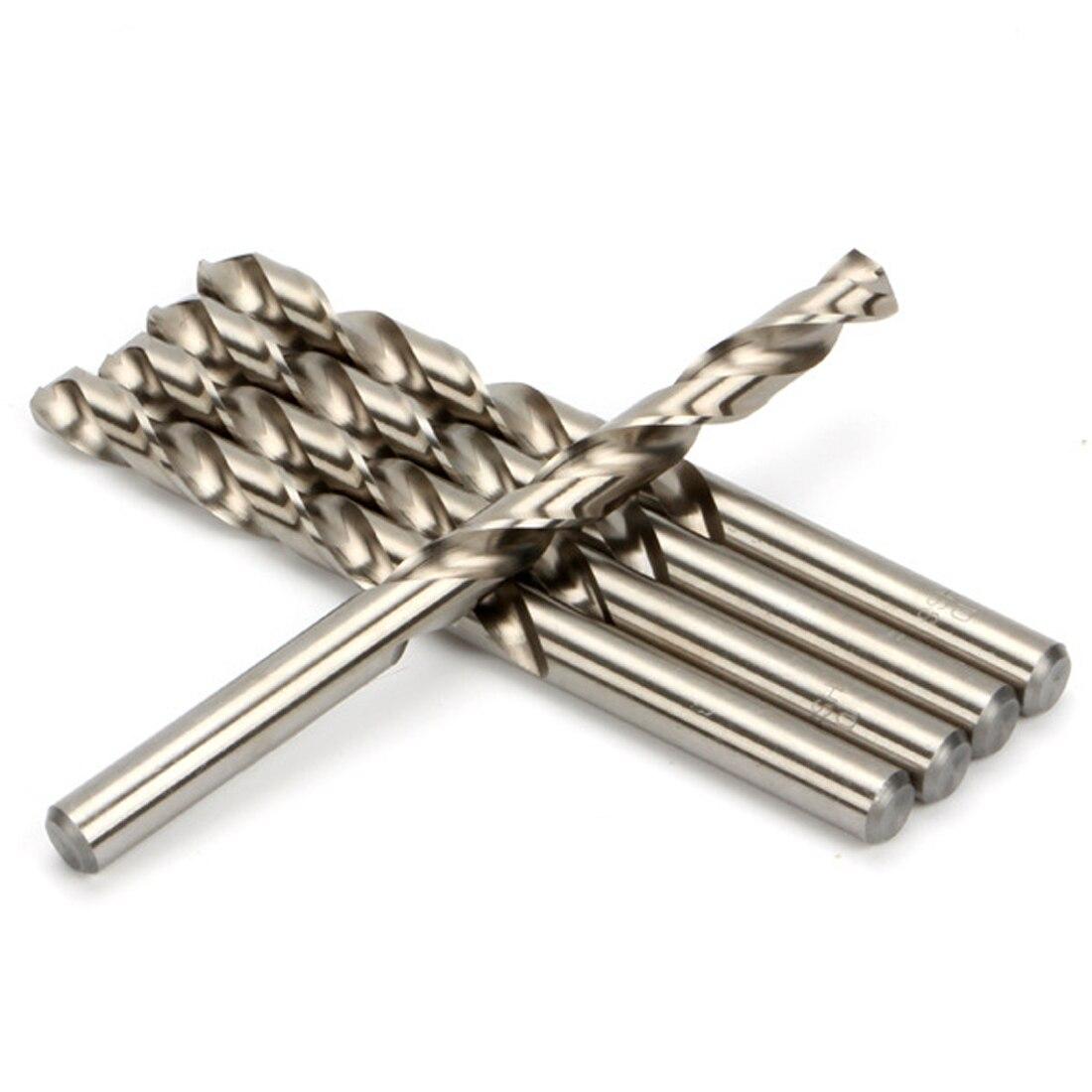White Steel Twist HSS Drill Bit Set 10pcs Mini High Speed For Dremel Rotary Tool for Wenwan//Amber//Bodhi//Walnut 0.5mm-3.0mm Drill