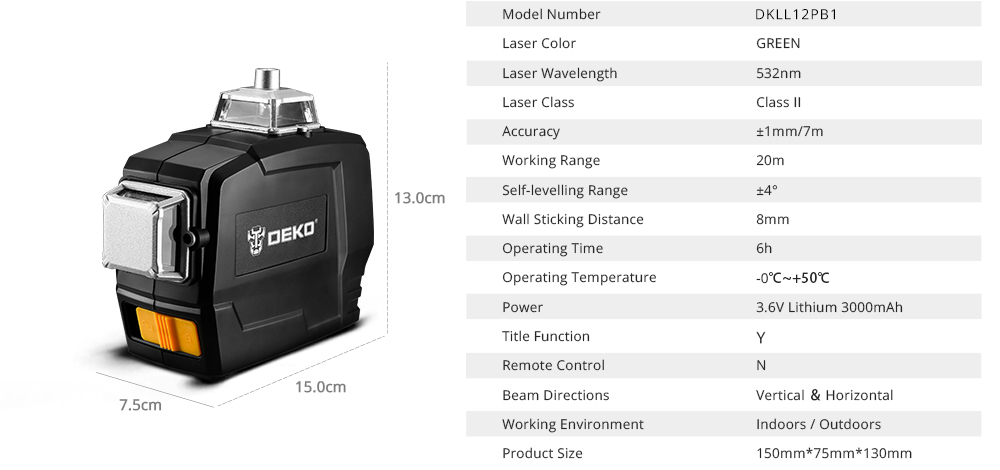 Our Product Specification
