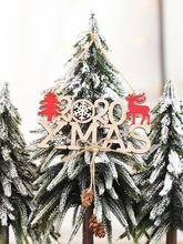 Christmas Navidad Decorations New 2020 Letter Hemp Wooden Pendant Creative Year For Home