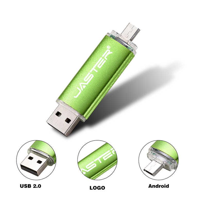 JASTER usb 2.0 64GB דיסק און קי 128 gb משולב עט כונן זיכרון stick 8 gb 16 gb 32 gb עבור נייד טלפון micro usb & מחשב