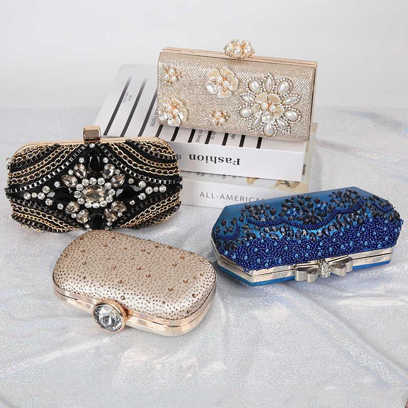 Роскошный Золотой клатч с Луной, Женская сумочка, Свадебный клатч, сумочка с кристаллами, роскошная женская сумочка, модный кошелек на каждый день