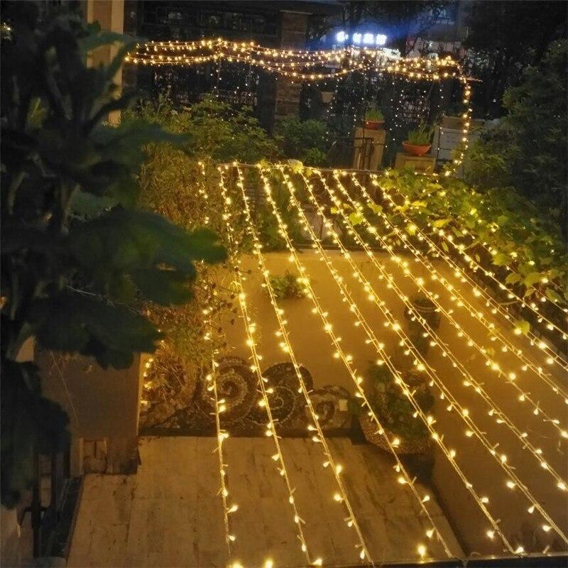 JSEX Festão Do Feriado Luz LED String Luzes De Fadas À Prova D' Água Iluminação Interior Ao Ar Livre Ano Novo Decoração de Casa De Iluminação De Casamento