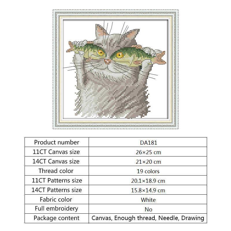 DMC クロスステッチキット刺繍裁縫セット 14ct キャンバスプリントカウント針仕事クロスステッチ生地 DIY の手工芸品