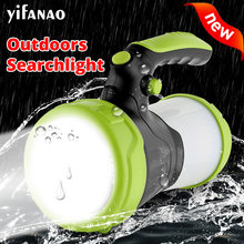 6000 MAh LED Camping Lampu USB Rechargeable Senter Dimmable Lampu Kerja Lampu Sorot Senter Darurat(China)