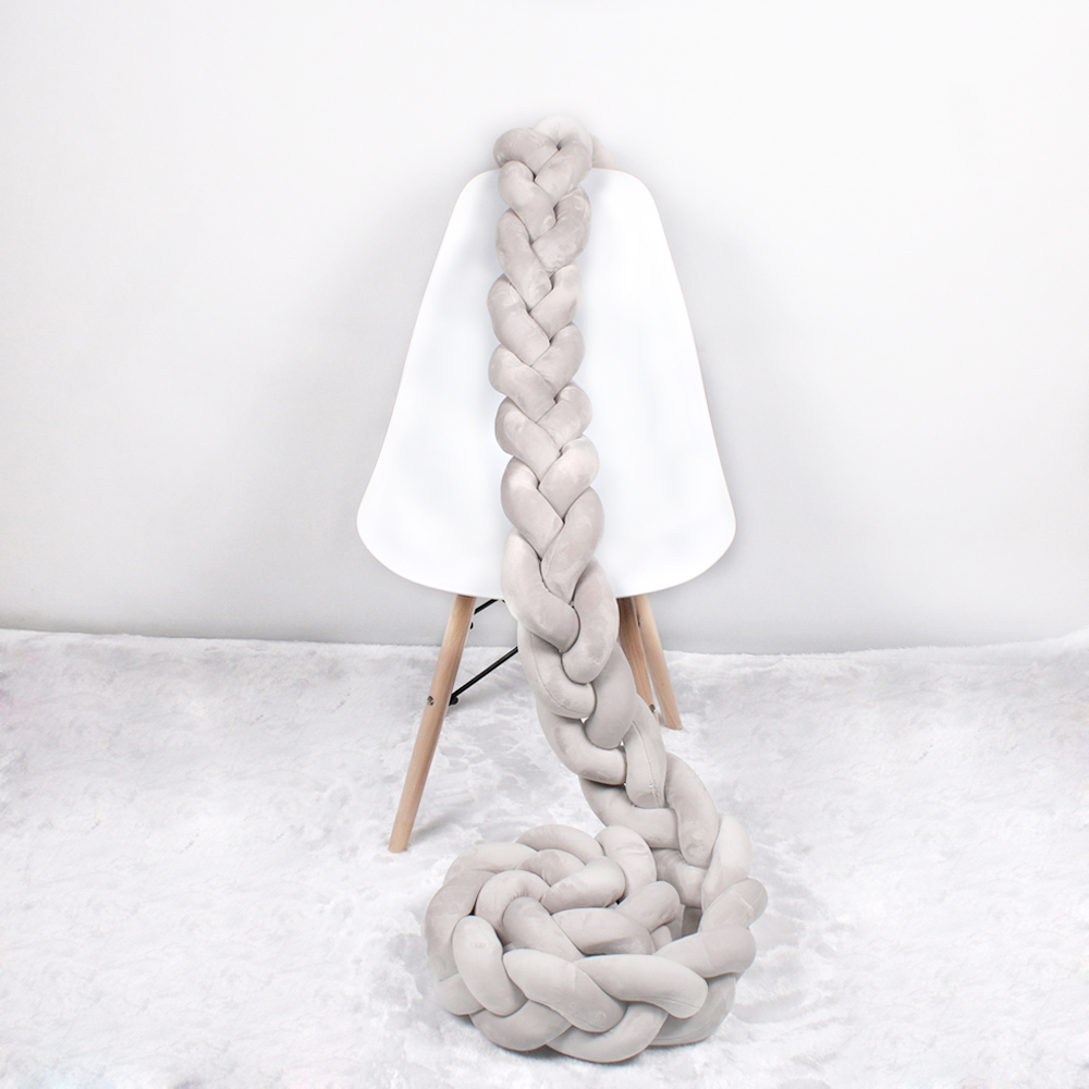 Baby Bed Bumper 3 Braids Newborn Baby Bed Decor Tour De Lit Bebe Tresse Pure Weaving Crib Bumper Protector Infant Room Decor