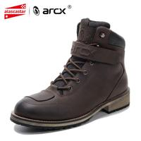 ARCX Motorcycle Boots Waterproof Leather Motocross Boots Men Moto Vintage Ankle Boots Motorcycle Outdoor Travel Shoe