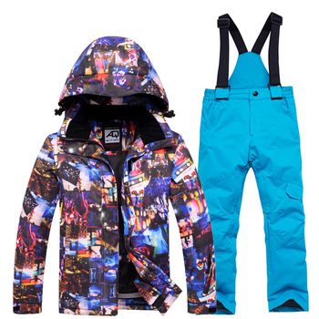 цена на New Kids Ski Suit Children Brands Waterproof Windproof Girls And Boys Snow Set Pants Winter Skiing And Snowboarding Jacket Child