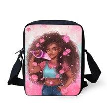 HaoYun Fashion Girls Messenger Bags Kawaii African Pattern Crossbody Afro Arts Mini Flaps Kids Purse Coin