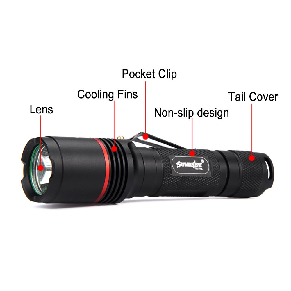 3800LM T6 LED 3 Lighting Mode Waterproof Rechargeable High Power Torch Portable Flashlight Lamp For Night Lighting