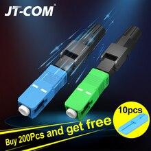 Fiber Optic Fast Connector FTTH SC APC Single Mode Fiber Optic Adapter  SC UPC  FTTH SC Fiber Connector Field Assembly