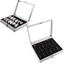 Watches Glass Case 12 Grids Watch Box Watch Display Storage Box Bracket Accessories Decorative Cabinet