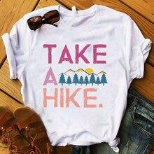 Women Lady T Shirt Take A Hike Printed Tshirt Ladie