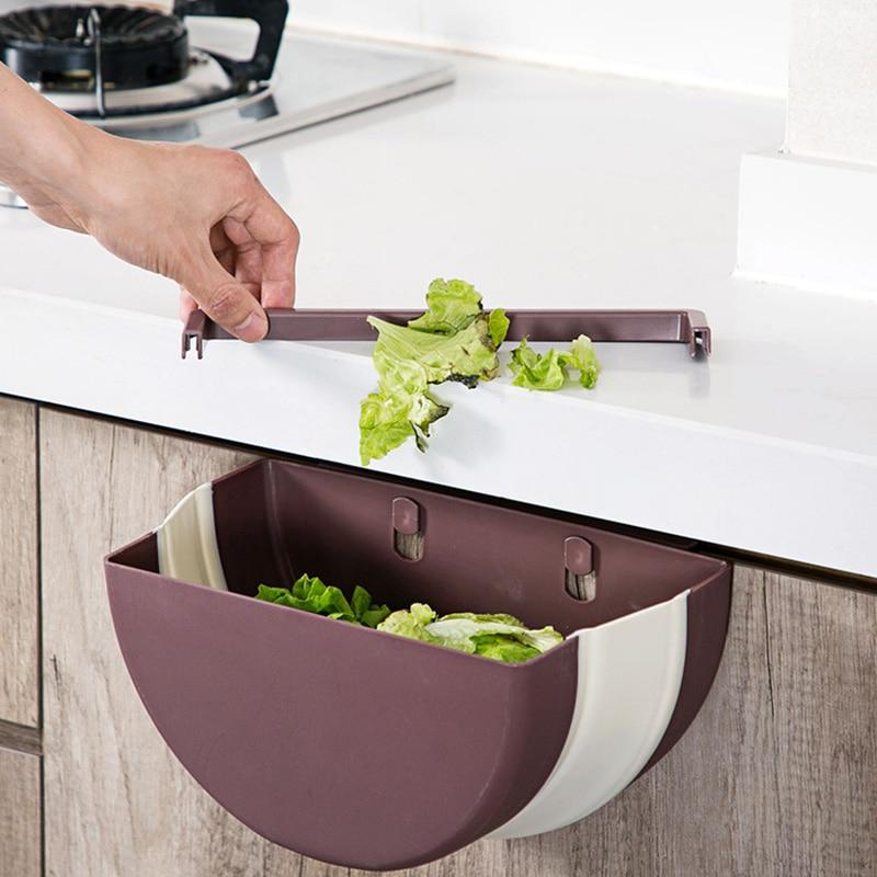 large foldable kitchen trash plastic storage box organizer for kitchen accessories storage basket kitchen storage box/rack Shelf 2