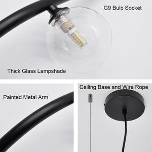 Image 5 - Artpad 북유럽 미니멀리스트 led 다이닝 룸 펜던트 라이트 와이어 로프 교수형 램프 ac110 220 v 바 레스토랑 블랙 펜던트 램프
