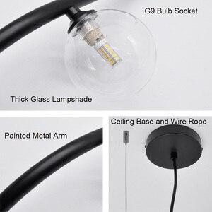Image 5 - Artpad skandynawska minimalistyczna lampa wisząca do jadalni lina stalowa lampa wisząca AC110 220V Bar restauracja czarny wisiorek lampy
