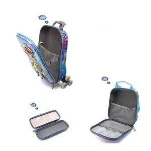 Image 3 - 2018 新子供のバックパック子供の学校のバックパックとホイールトロリー荷物子供のバックパック子供のギフトバッグ