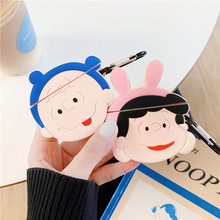 For AirPod 2 Case 3D Hat Charlie Lucy Cartoon Soft Silicone Wireless Earphone Cases Apple Airpods Cute Cover Funda
