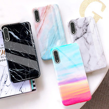 Glossy Marble Case for Huawei P30 lite Luxury Soft Silicone TPU Cover P20 Mate 20 Pro Nova 3i 3e 4e