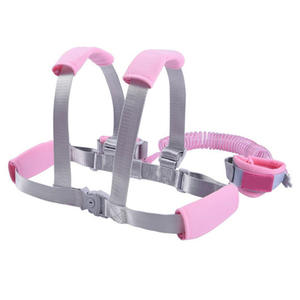 Leash Wrist-Link Safty-Lock Kid with Harness Toddler Anti-Lost 2-In-1 New