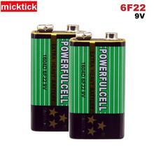 10pcs 9V 6F22 16340D סוללה 9v אלקליין סוללות Carbonfor מודד מיקרופון צעצוע מרחוק batteria בקרת KTV