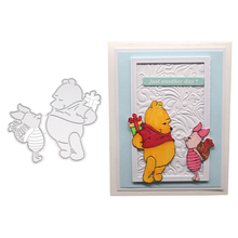 Bear and Pig Metal Cutting Dies For DIY Scrapbooking Paper Cards Photo Album Decorative Embossing Clear Stamps And Dies New 2019