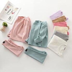 Осенние комплекты одежды для сна для маленьких девочек одежда для маленьких мальчиков, футболка + штаны комплект из 2 предметов Детская одеж...