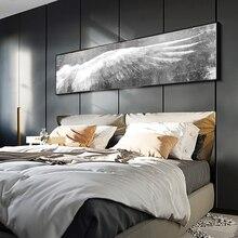 Grandes Alas de Ángel Vintage cartel de pluma impresión negro blanco arte de la pared lienzo pinturas alas pared pop Art imagen para sala de estar