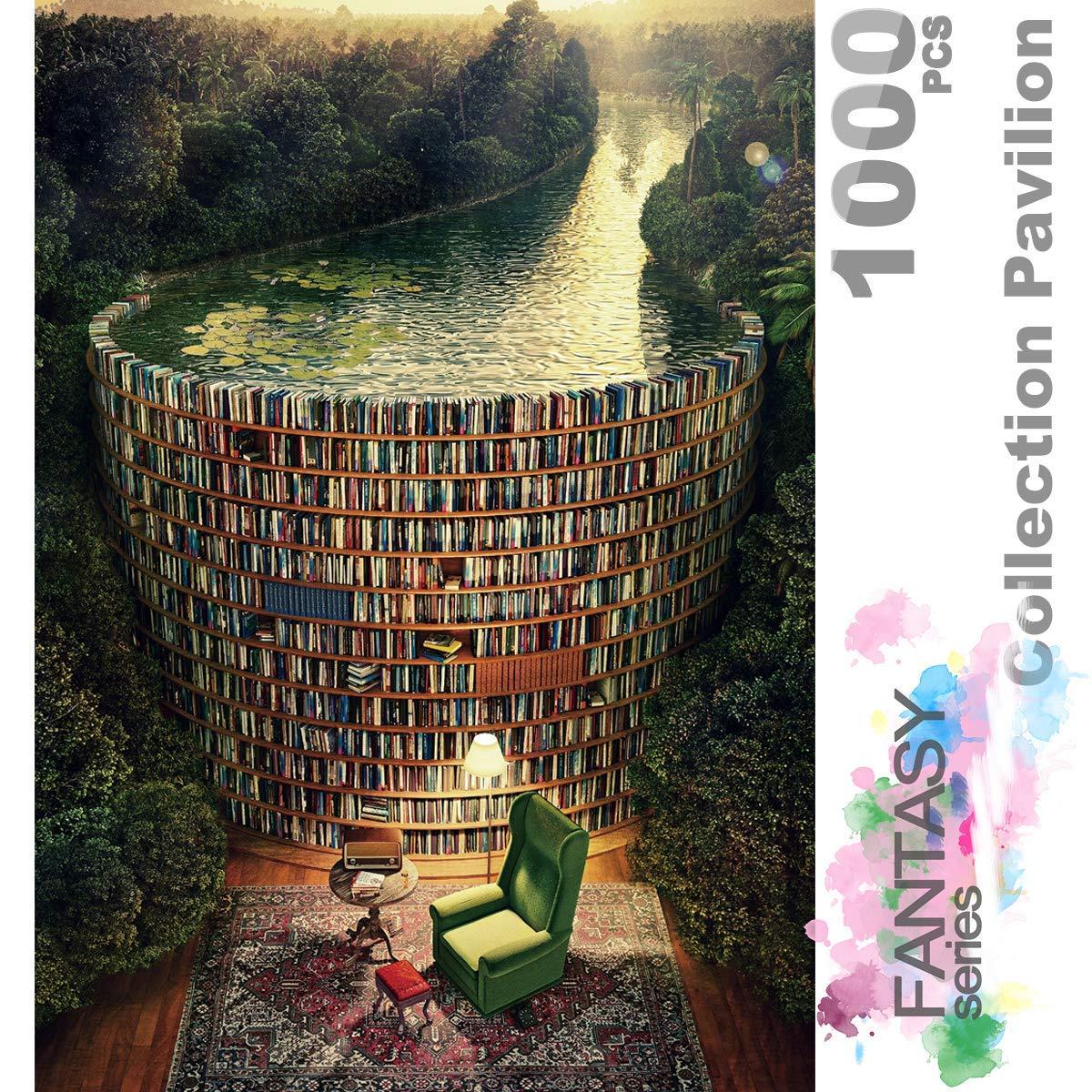 Estante e canal o quebra-cabeça de madeira 1000 peças ersion quebra-cabeça branco cartão adulto crianças brinquedos educativos