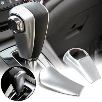 2Pcs Car Gear Shift Knob Sliver ABS Chrome Trim Cover For Honda CRV/CR-V 2012 2013 2014 2015 2016 dwcx car front left exterior pillar corner trim window triangle cover abs 75495 tr0 a01 fit for honda civic 2012 2013 2014 2015