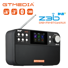 GTMEDIA Z3B Portable Radio FM DAB Stereo RDS Multi Band Radio Speakers with LCD Display Alarm Clock Support Micro SD TF Card