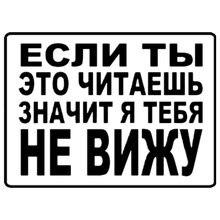 Cs 1343#20*15см наклейки на авто Если ты это читаешь значит