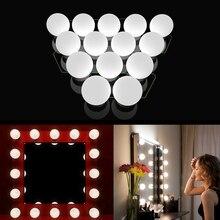 LED Makeup Vanity Mirror Lights Stepless Dimmable USB Charging Port Adjustable Stick on LED Mirror Light