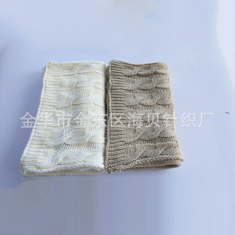 Long-term Direct Selling Wholesale Lengthen Knitted Warm Scarf Simple Knit Warming Scarf