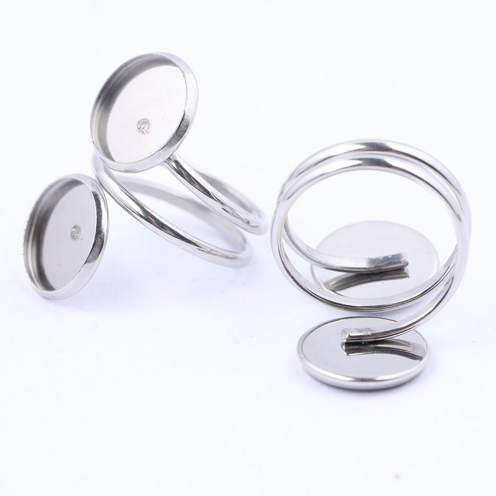 Основа для кольца-кабошона из нержавеющей стали, 12 мм, 10 шт.