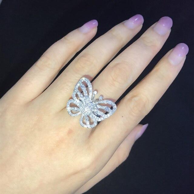 Фото женское обручальное кольцо с бабочкой обручальное серебряного