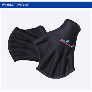 DIVE & SAIL diving gloves, swimming surf training palms, swimming palms, webbed palm paddling gloves W