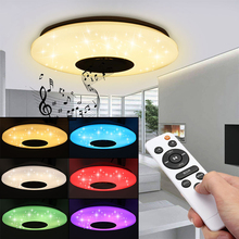 Music-Ceiling-Light Speaker-Lamp Party Smart Bluetooth Home Bedroom 60W LED Remote-Dimmable