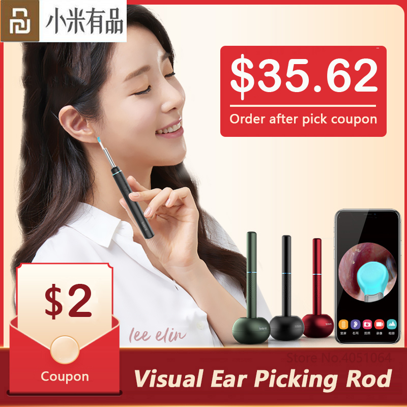 Xiaomi Bebird Smart Visual Ear Picking Rod Multifunction In-Ear Endoscope With Magnetically Charged Base Ear Picker Tool Set M9p