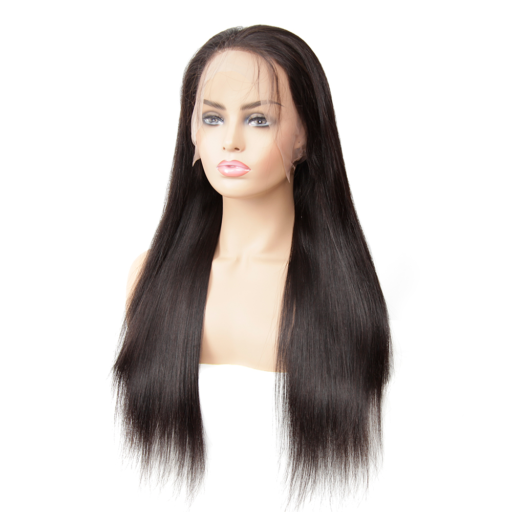 Image 2 - 13x4 Remy Straight Lace Front Human Hair Wigs Brazilian Human Hair Wig Extensions Near Me For Black Pre Plucked With Baby Hair-in Lace Front Wigs from Hair Extensions & Wigs