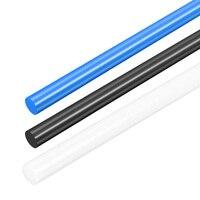 Uxcell plastik yuvarlak çubuk 3mm 4mm 5mm 7mm Dia 50cm uzunluk mühendislik plastik yuvarlak demir için rulman silindirleri inşaat Alet Parçaları    -