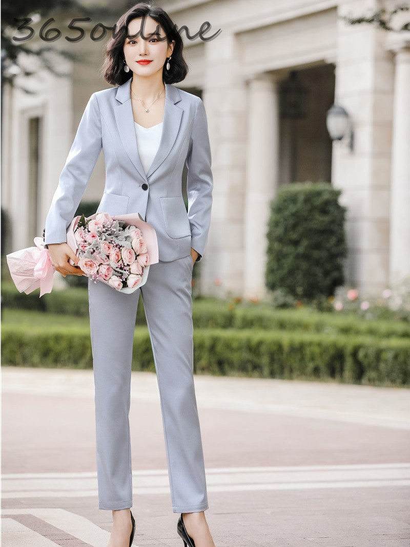 Uniform Designs Formal Women Business Suits With Pants And Jackets Coat For Ladies Office Work Wear OL Professional Blazers